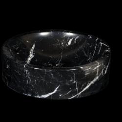 Lavabo de mármol modelo AM27 en color negro marquina